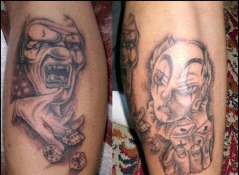 100 evil clown tattoo ideas clown 30 best zombie for Clown tattoos for men