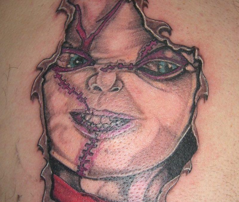 Evil horror tattoo design