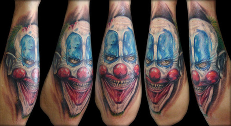 65a84a510 Evil joker face tattoo on arm - Tattoos Book - 65.000 Tattoos Designs