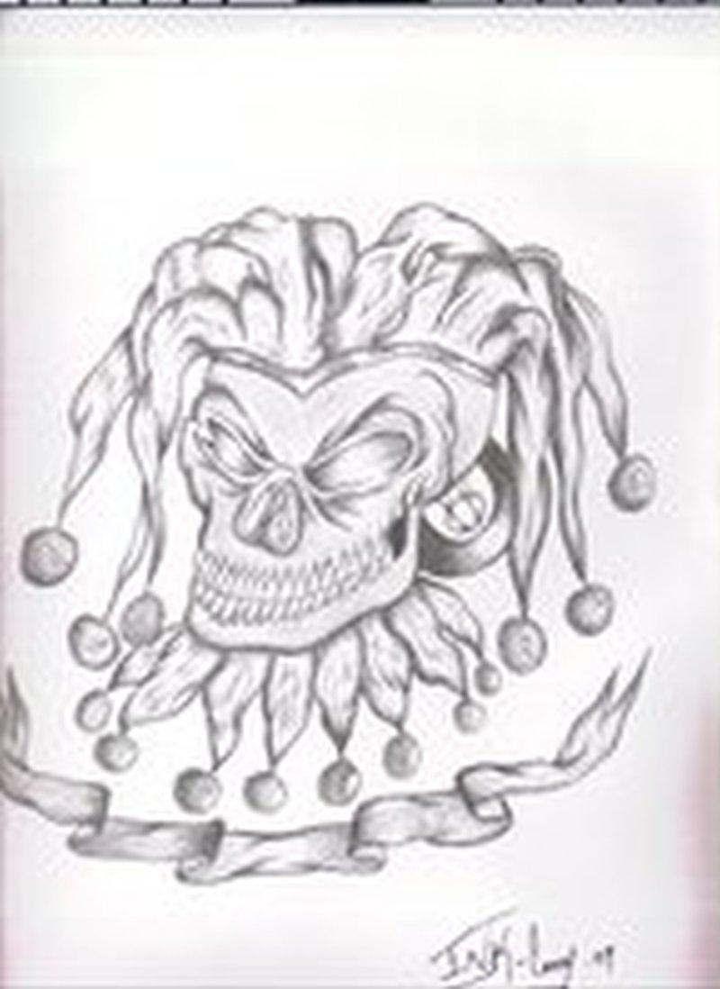 Evil Joker Tattoo Drawing Tattoos Book 65 000 Tattoos Designs