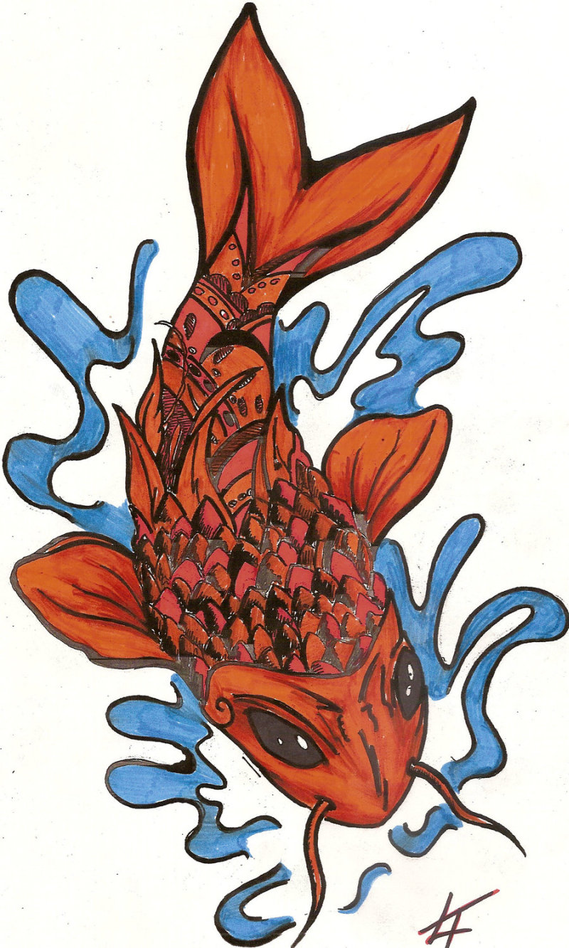 Exceptional fish tattoo sample