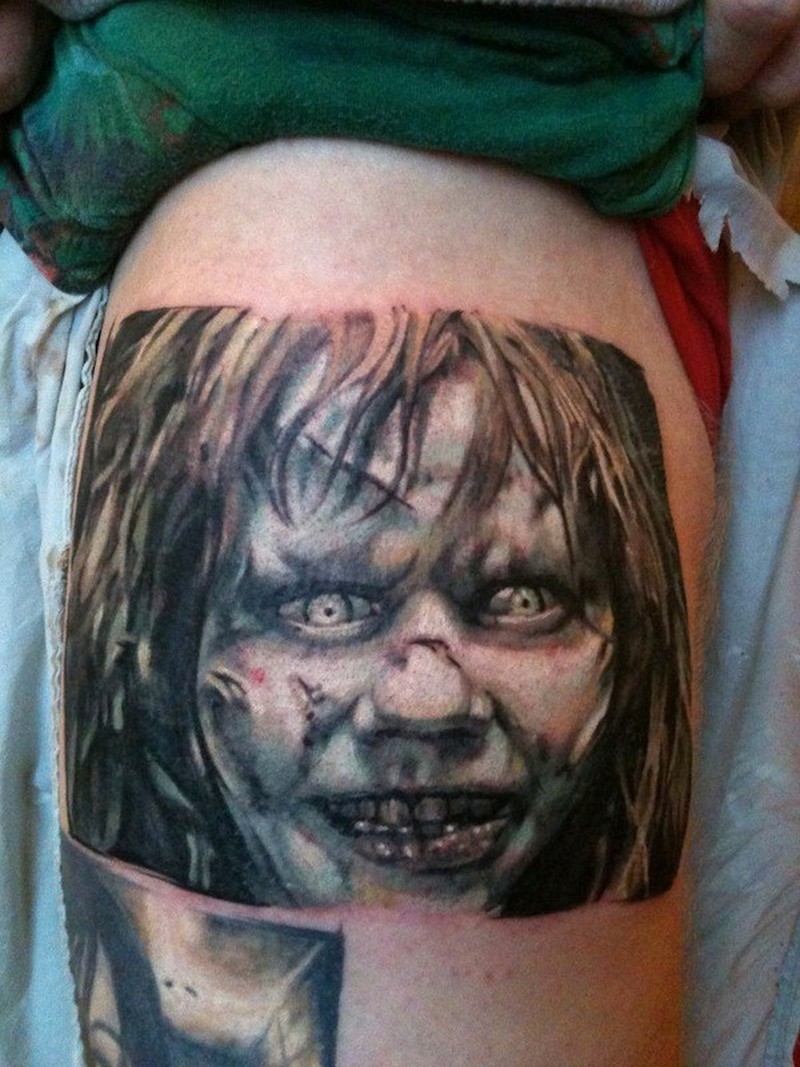 Exorcist movie horror tattoo