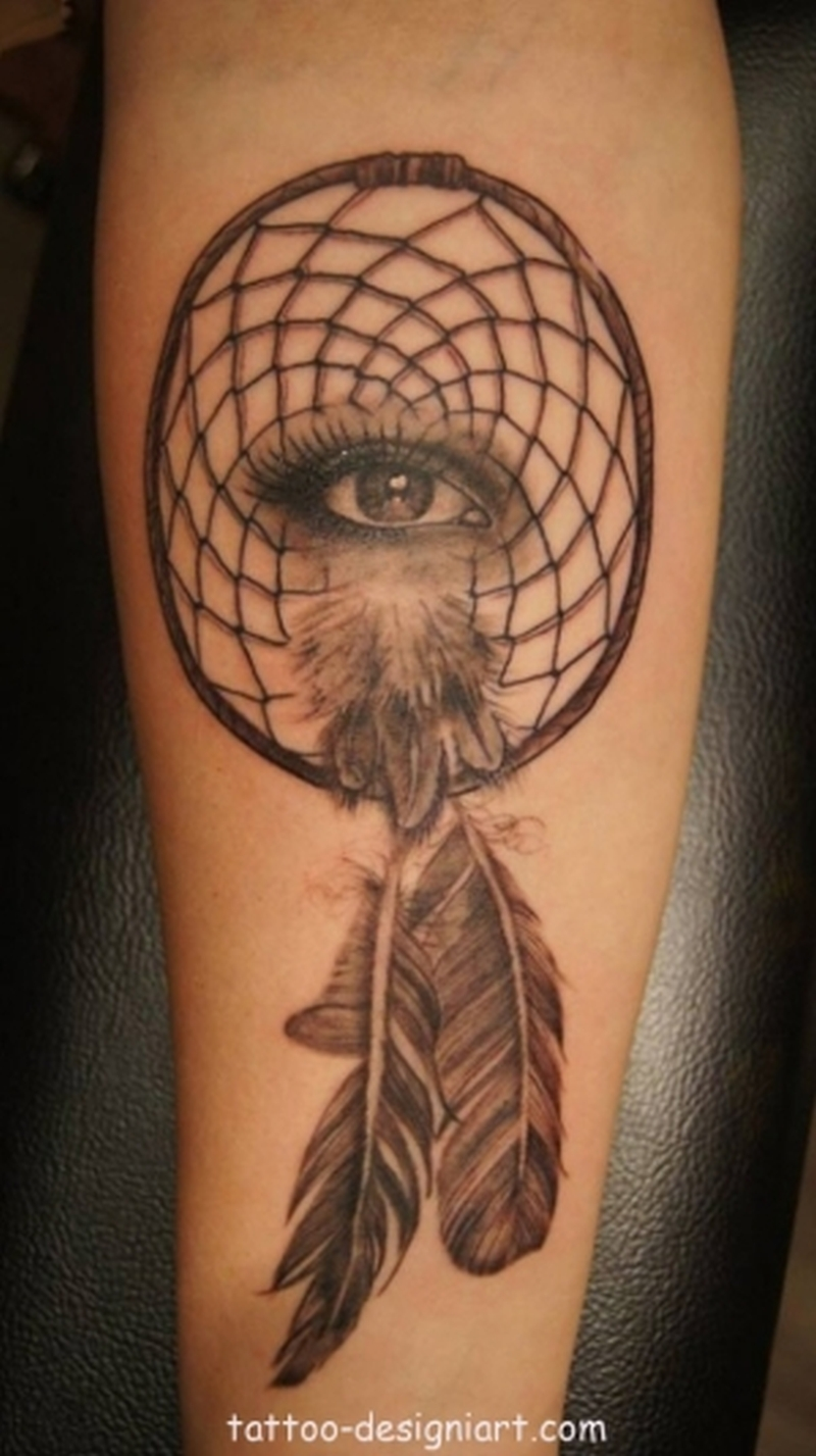 Eye Dream Catcher Tattoo On Forearm Tattoos Book 65 000 Tattoos
