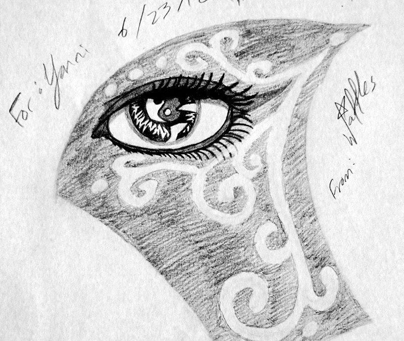 Eye tattoo drawing 3
