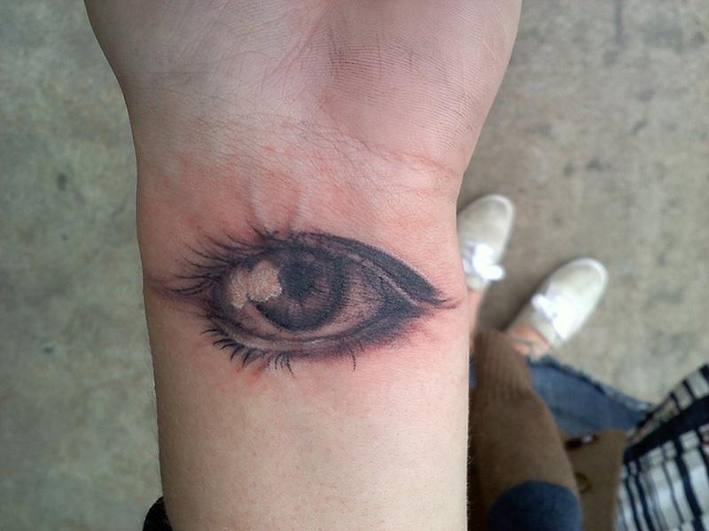 Eye tattoo for wrist