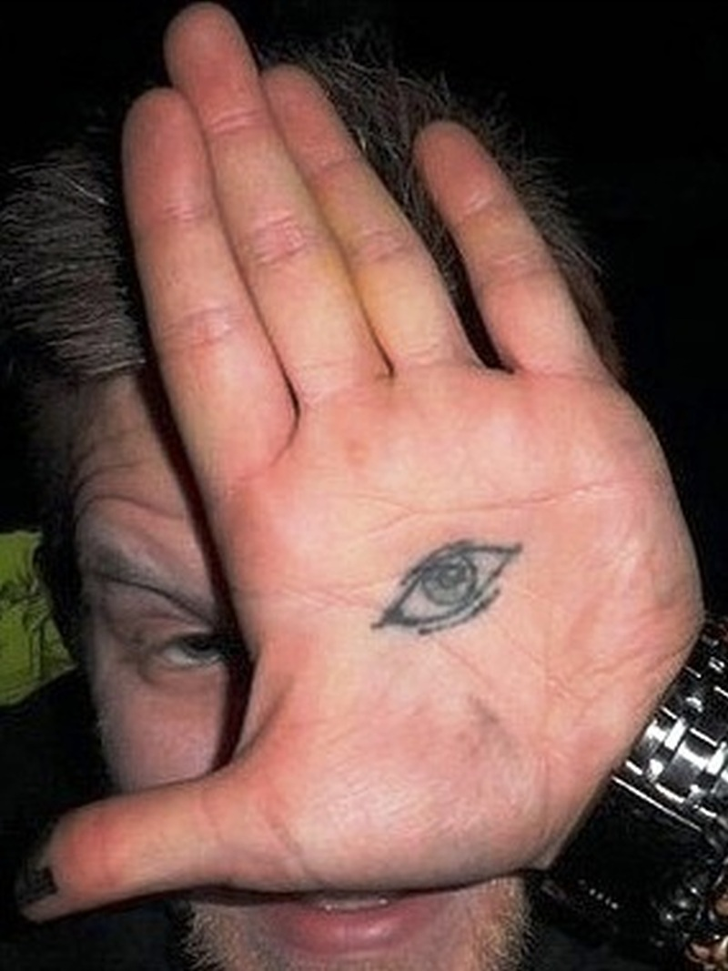 Eye tattoo on hand palm tattoos book tattoos for Eye finger tattoo
