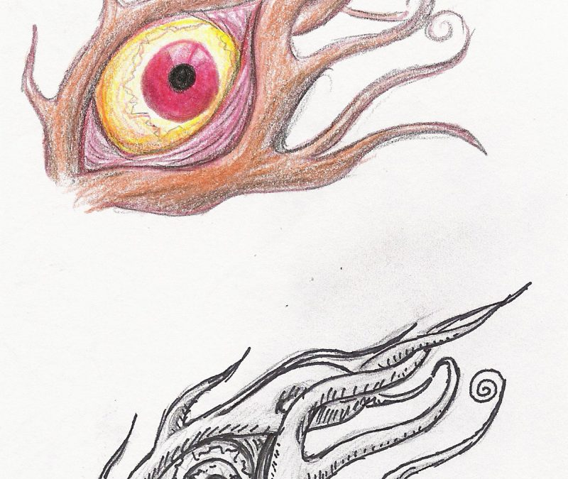 Eye tattoo sketches