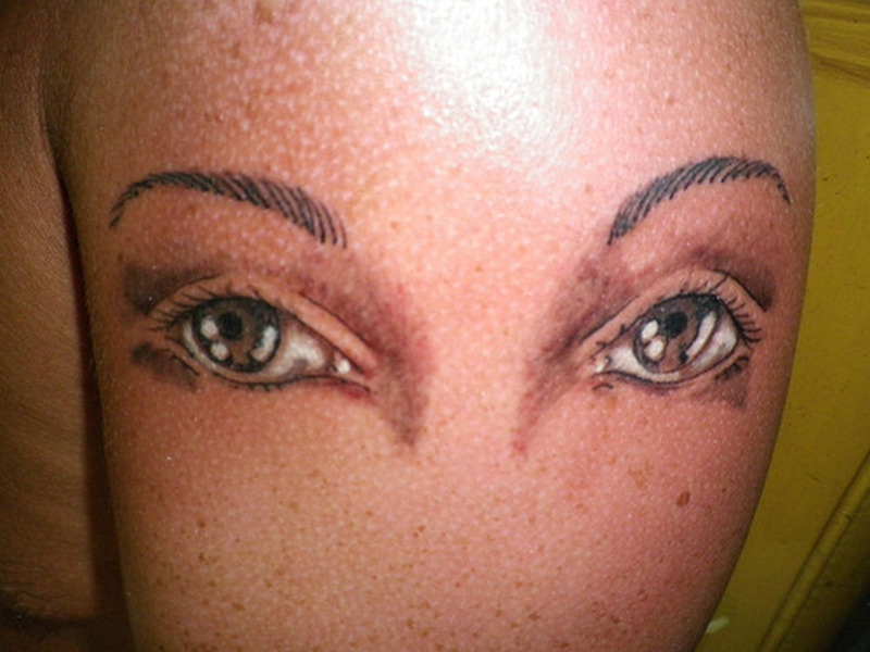 Eyes tattoo picture