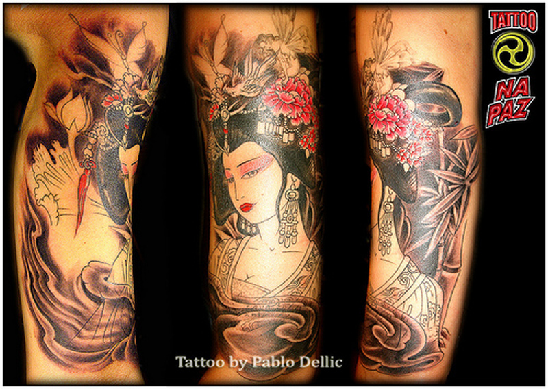 Fabulous geisha tattoo designs