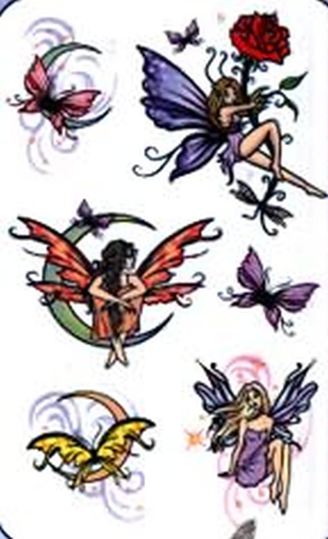 Fairies fantasy tattoo stencils
