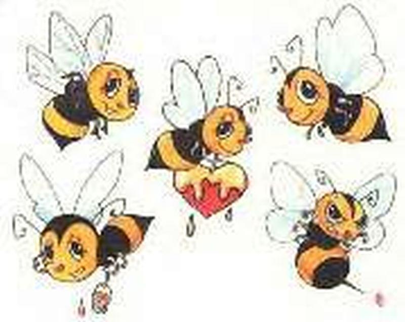 Fairy bumblebee tattoo design