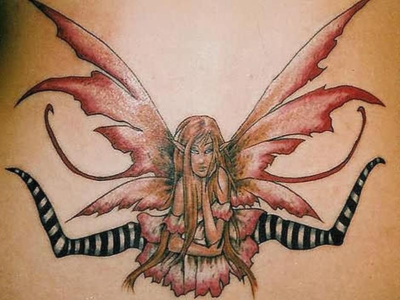 Fairy gothic tattoo design