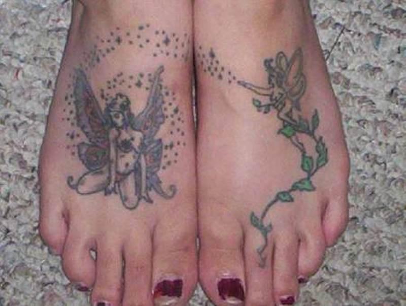 Fairy tattoo designs on feet