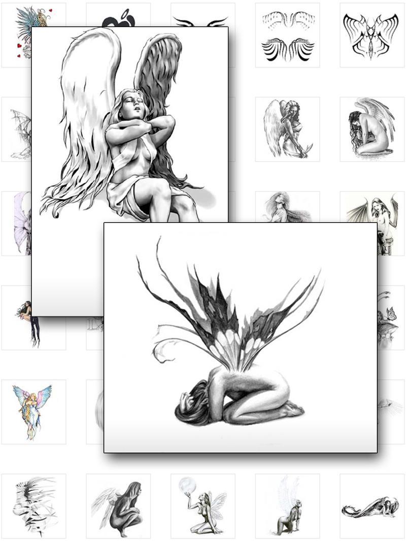 Fairy tattoo samples