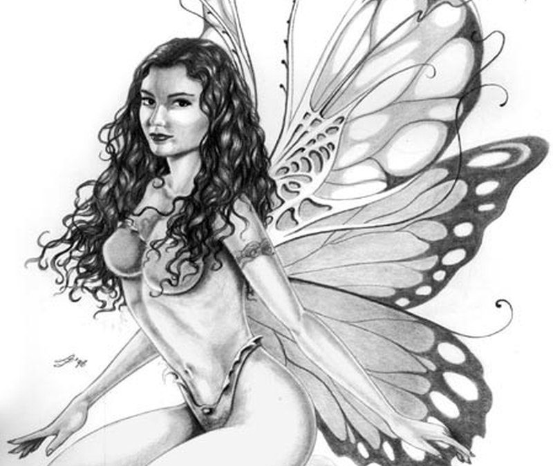 Fairy tattoo sketch