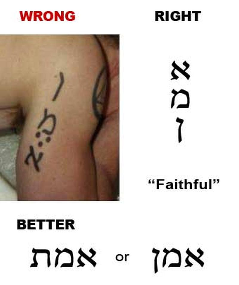 faithful hebrew tattoo design tattoos book tattoos designs. Black Bedroom Furniture Sets. Home Design Ideas