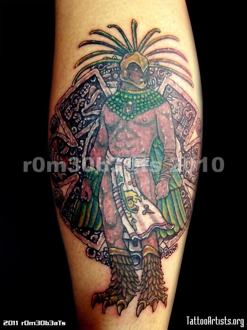 3650cce31 Fantastic aztec warrior tattoo design - Tattoos Book - 65.000 ...