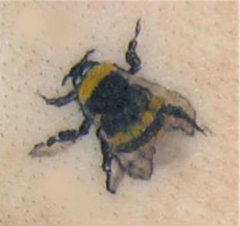 Fantastic bumblebee tattoo design