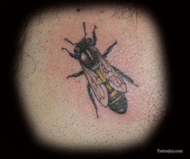 Fantastic bumblebee tattoo