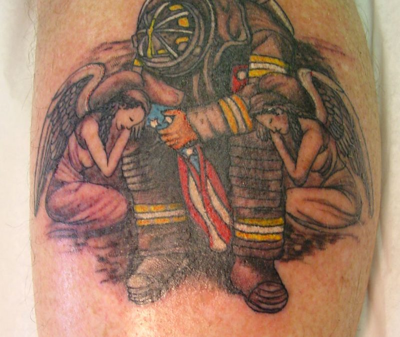 Fantastic firefighter tattoo design