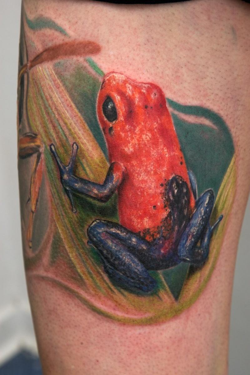 Fantastic frog tattoo design