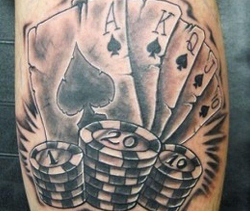 Fantastic gambling tattoo design