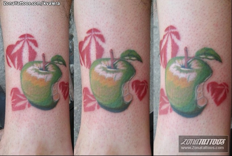 Fantastic green apple tattoo designs