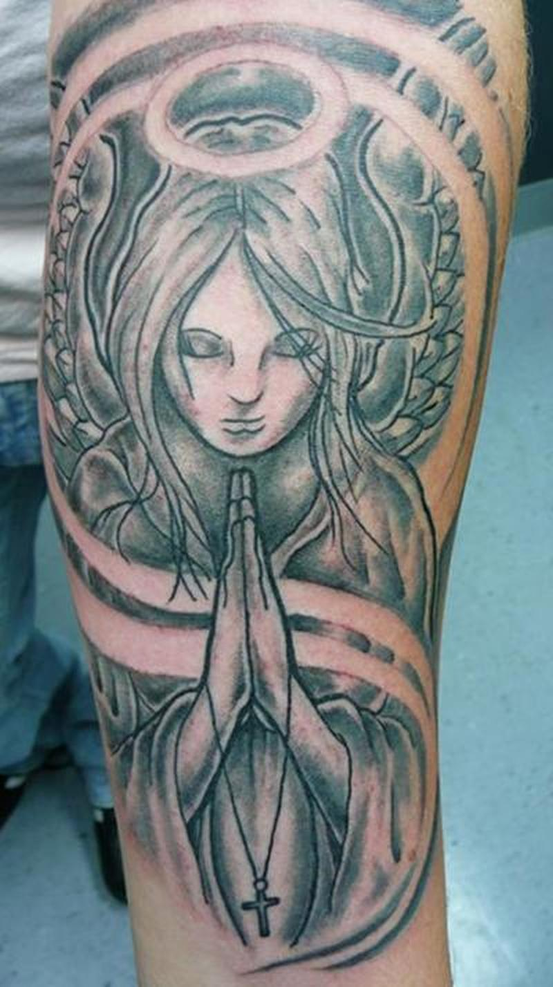 Praying Hands Tattoo Sleeve Designs