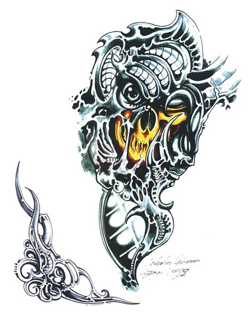 fantasy biomechanik tattoo design tattoos book. Black Bedroom Furniture Sets. Home Design Ideas