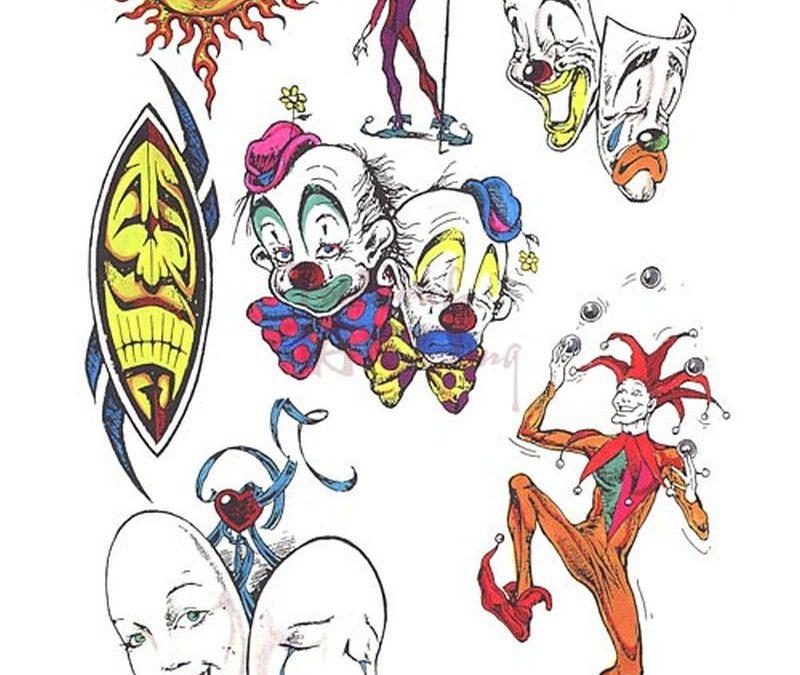 Fantasy clown designs tattoo