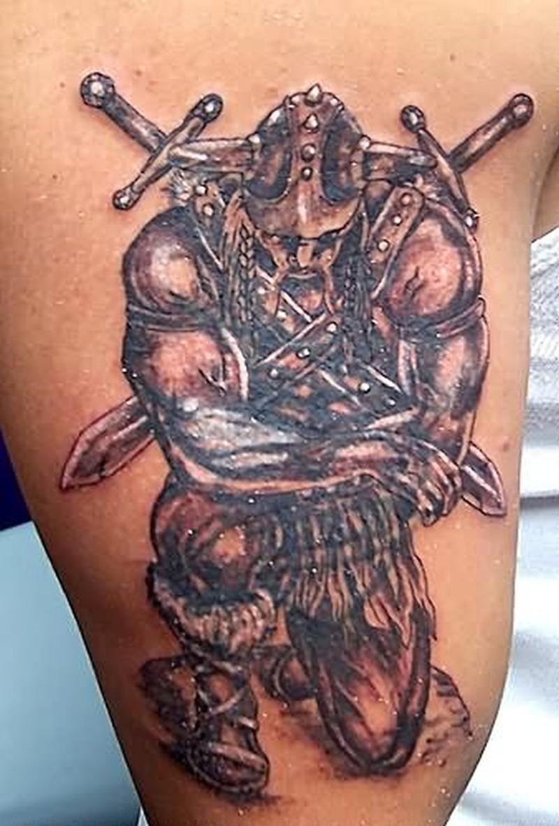 Fantasy dead man tattoo