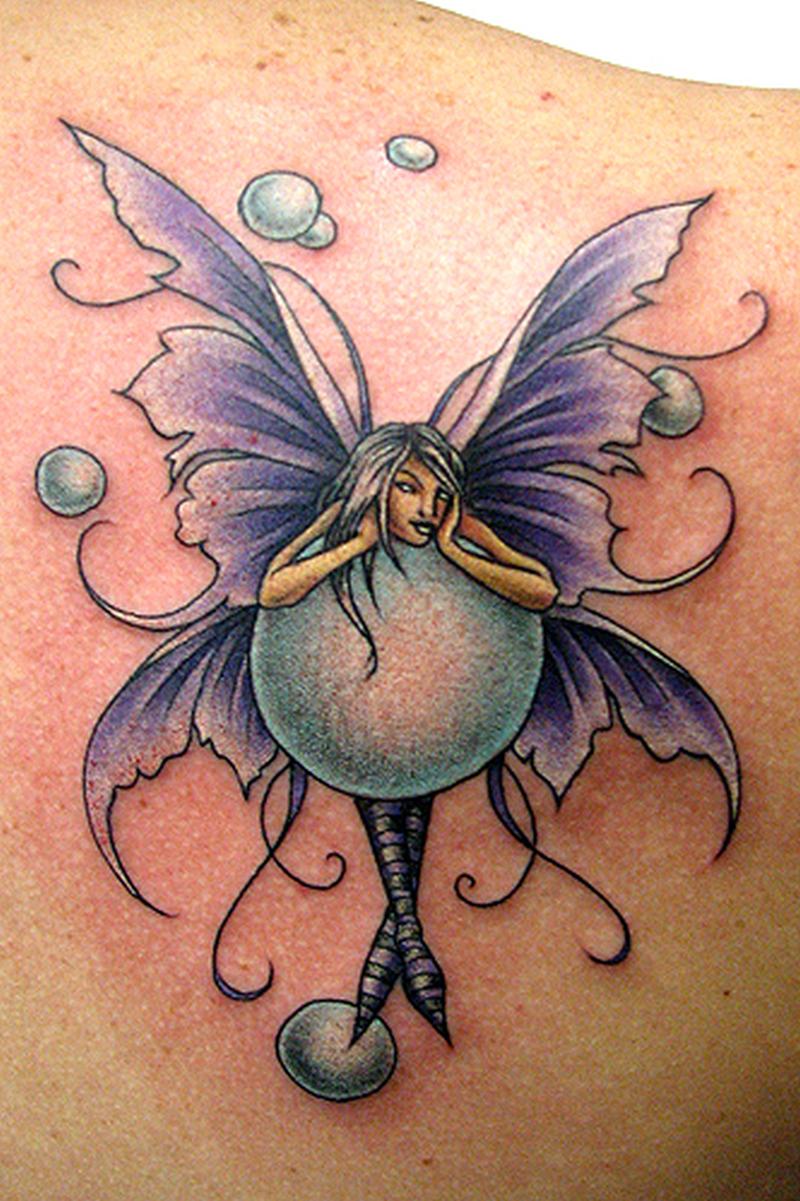 Fantasy fairy bubble tattoo design