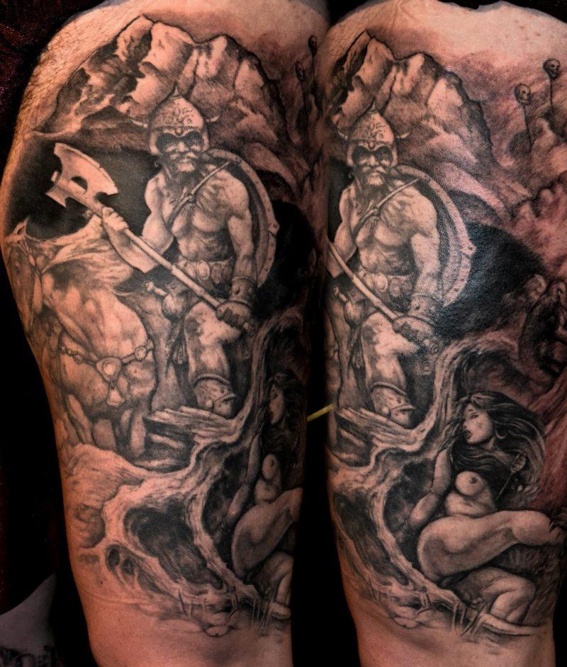 Fantasy half sleeve tattoo design