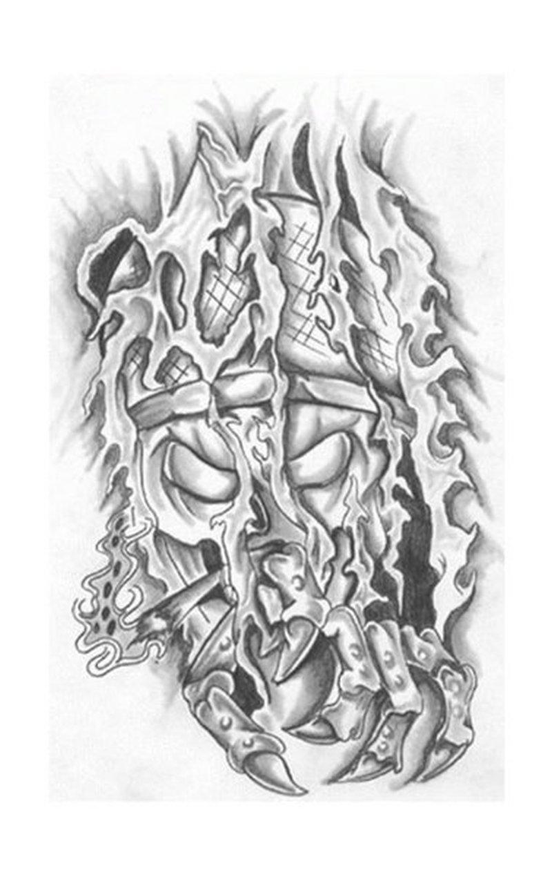 Fantasy krieger tattoo