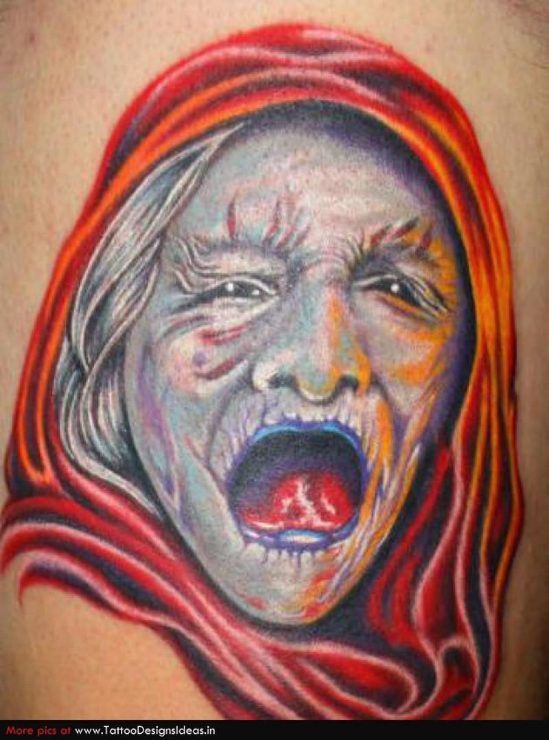 Fantasy monster alien tattoo