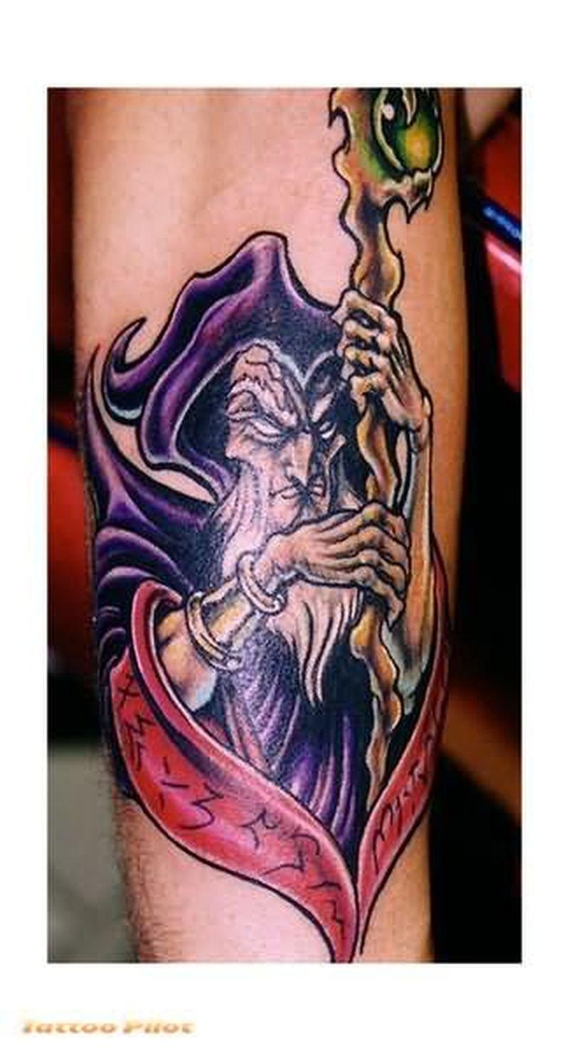 Fantasy old man tattoo