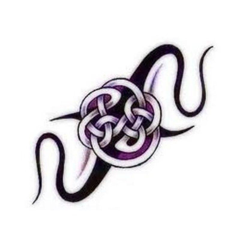 Fantasy purple celtic tattoo design