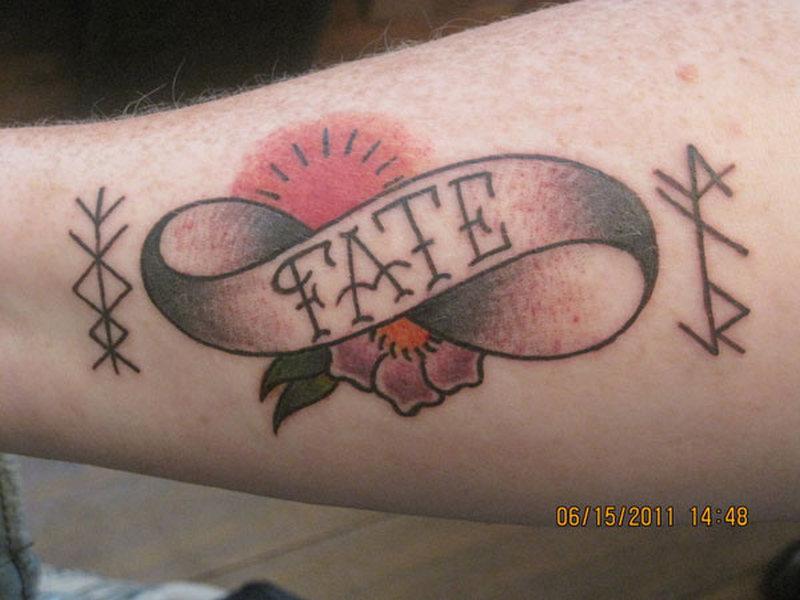 Fate infinity symbol tattoo design