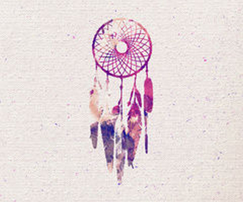 Feather dream catcher tattoo drawing