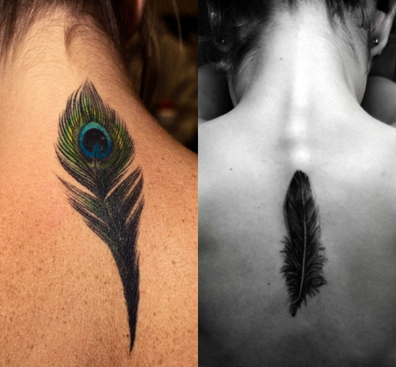 2d8cfbcd7723e Feather tattoo designs on upper back - Tattoos Book - 65.000 Tattoos ...