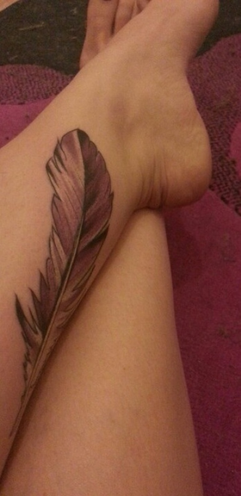 Feather tattoo for leg 2