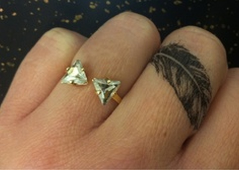 Feather tattoo on finger 2