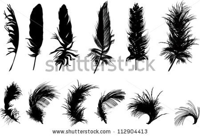 Few feather tattoo samples