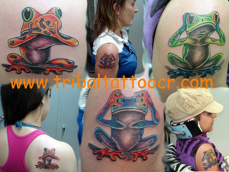 Few frog tattoo pictures
