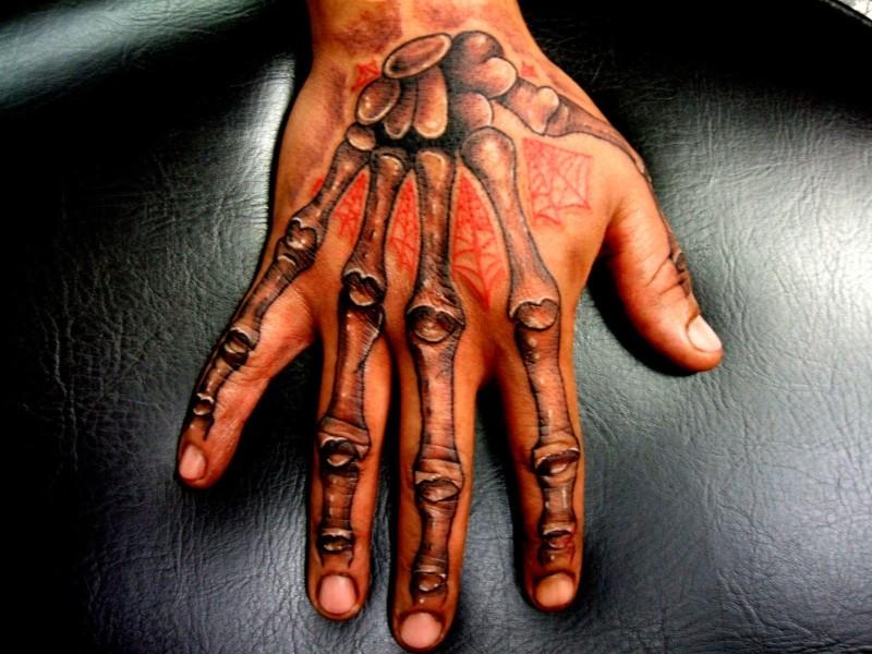 Finger hand tattoo design