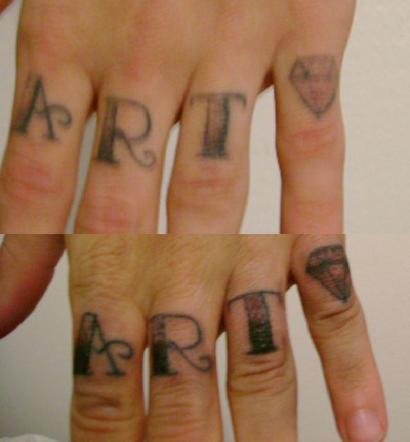 Finger tattoo picture 2