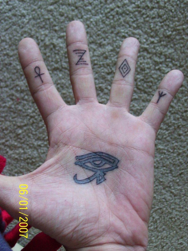 Fingers tattoo designs