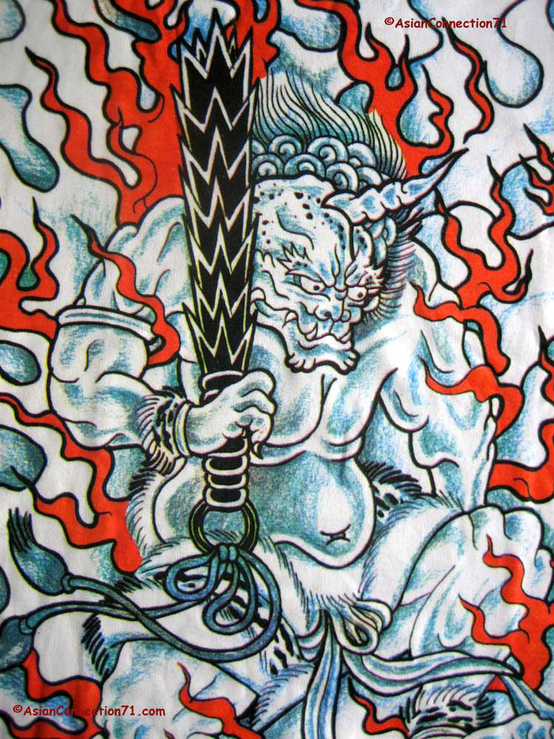Fire demon japanese tattoo design
