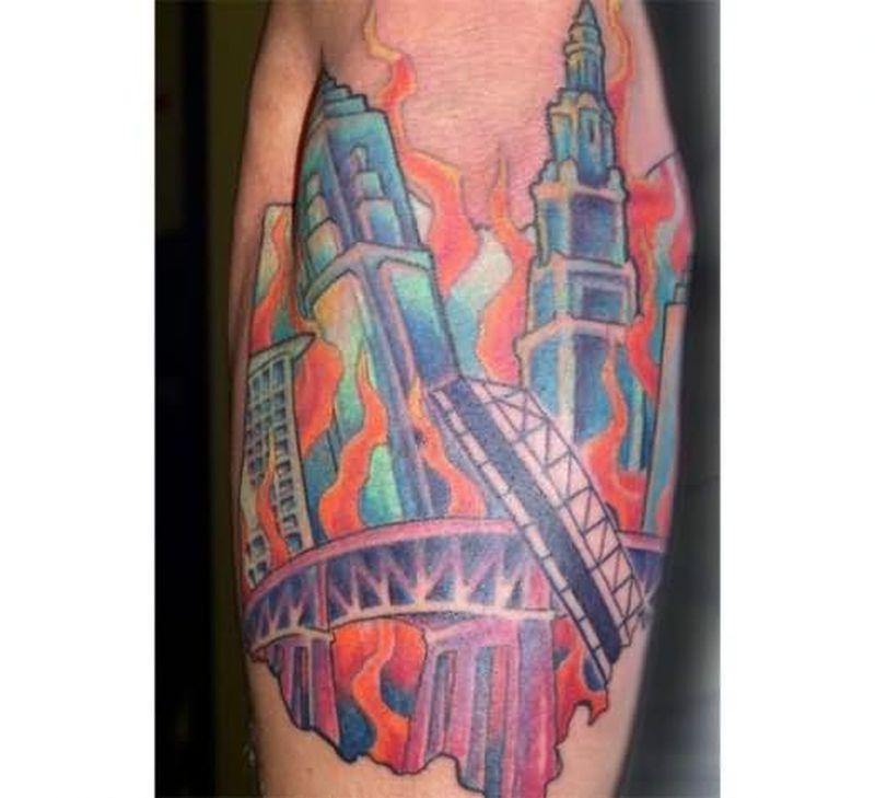 Fire n flames tattoo design