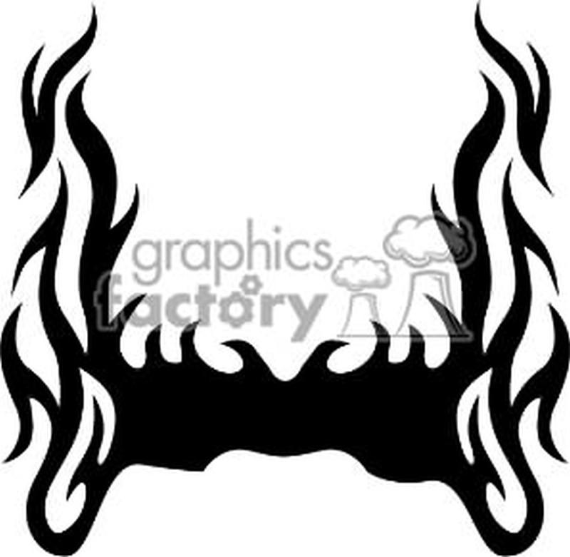 Fire n flames tattoo sample